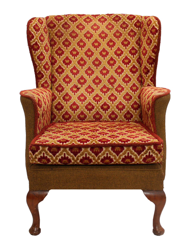 Petite Mid Century Wingback Chair
