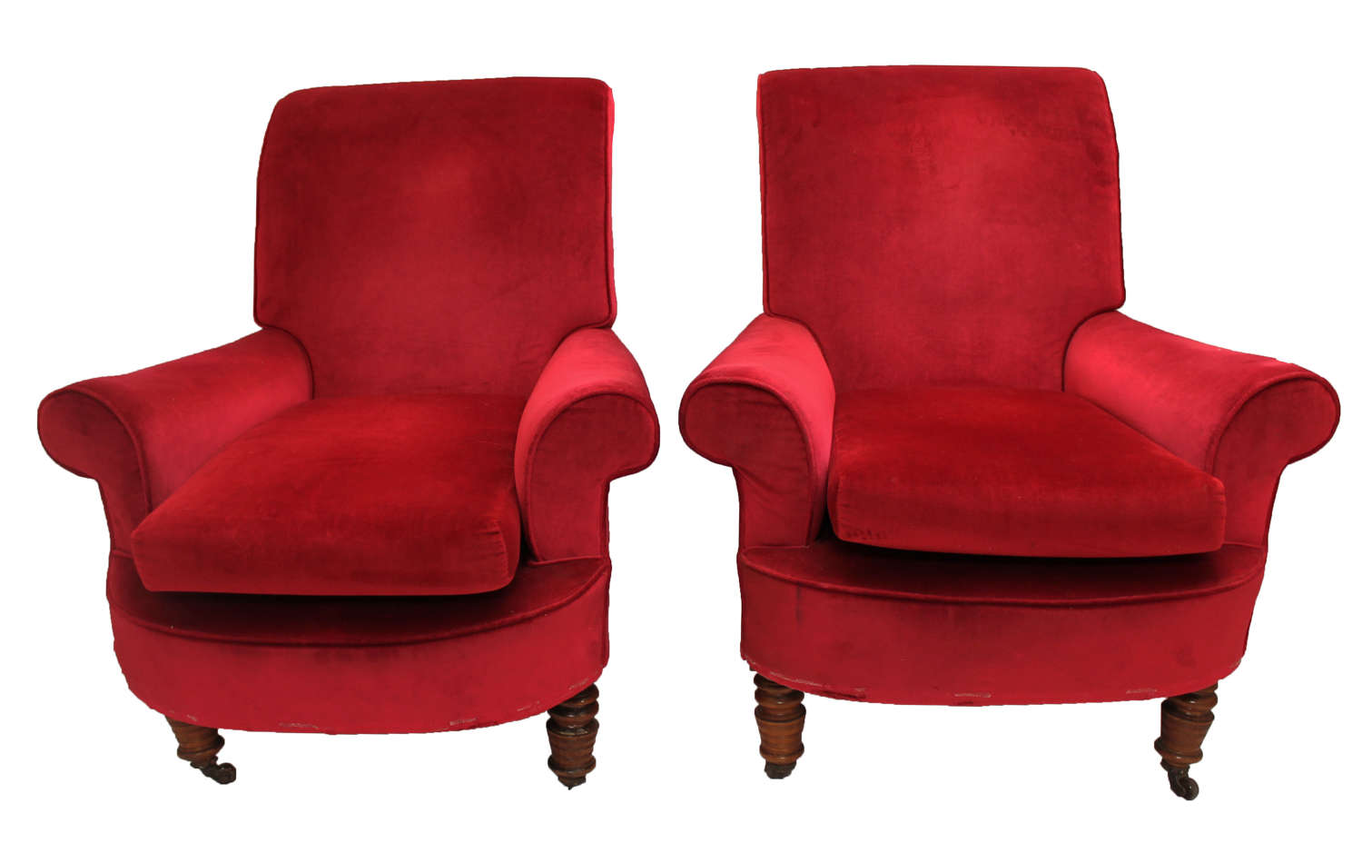 Pair of Victorian Armchairs Clubstyle