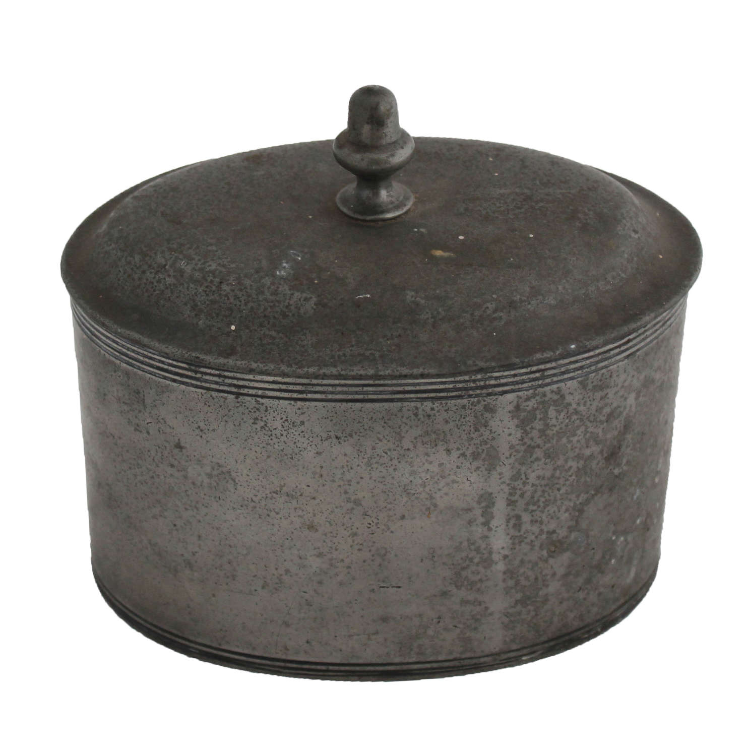 George III Pewter Tobacco Jar with Acorn Finial
