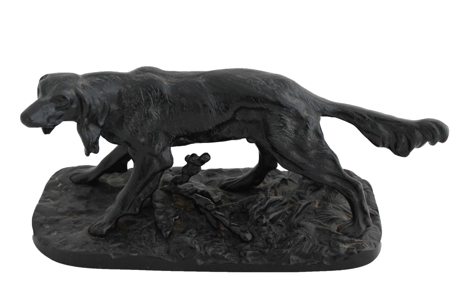 Soviet Cast-iron Setter sculpture