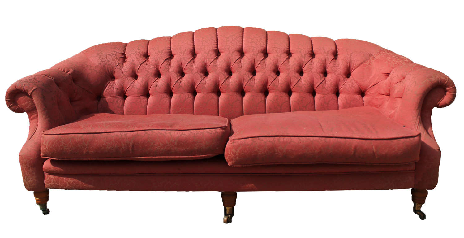 20th Century 2 Seater Button Backed Sofa