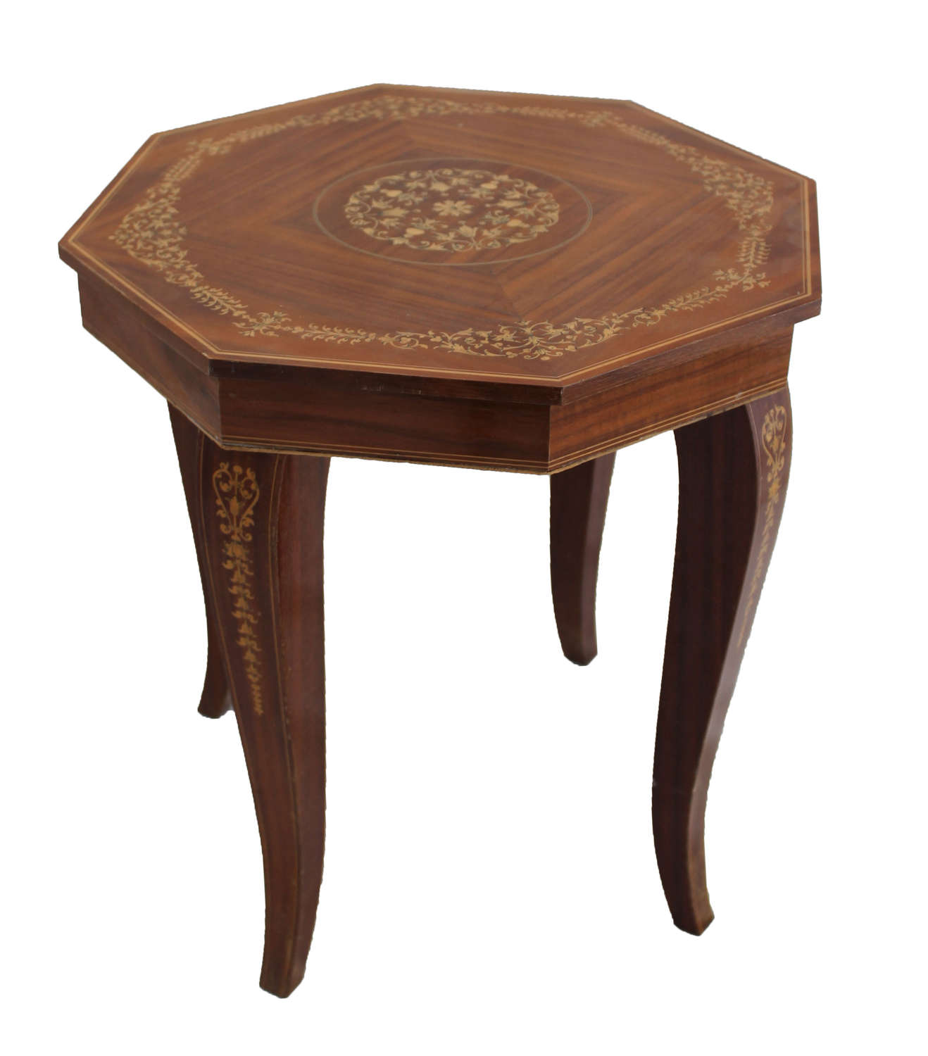 Octagonal Sorrento Table with inlay