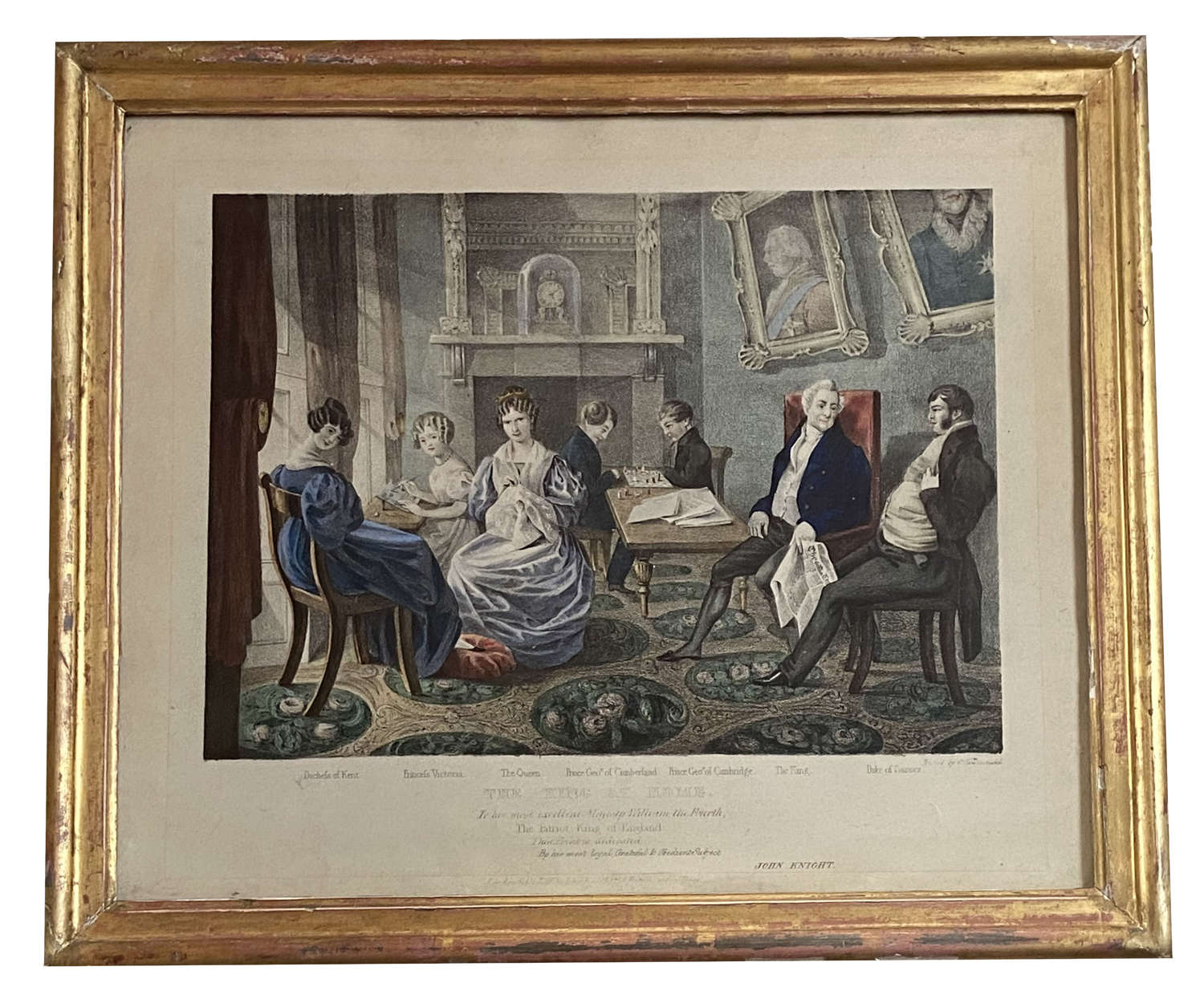 The King at home. William IV and Princess Victoria