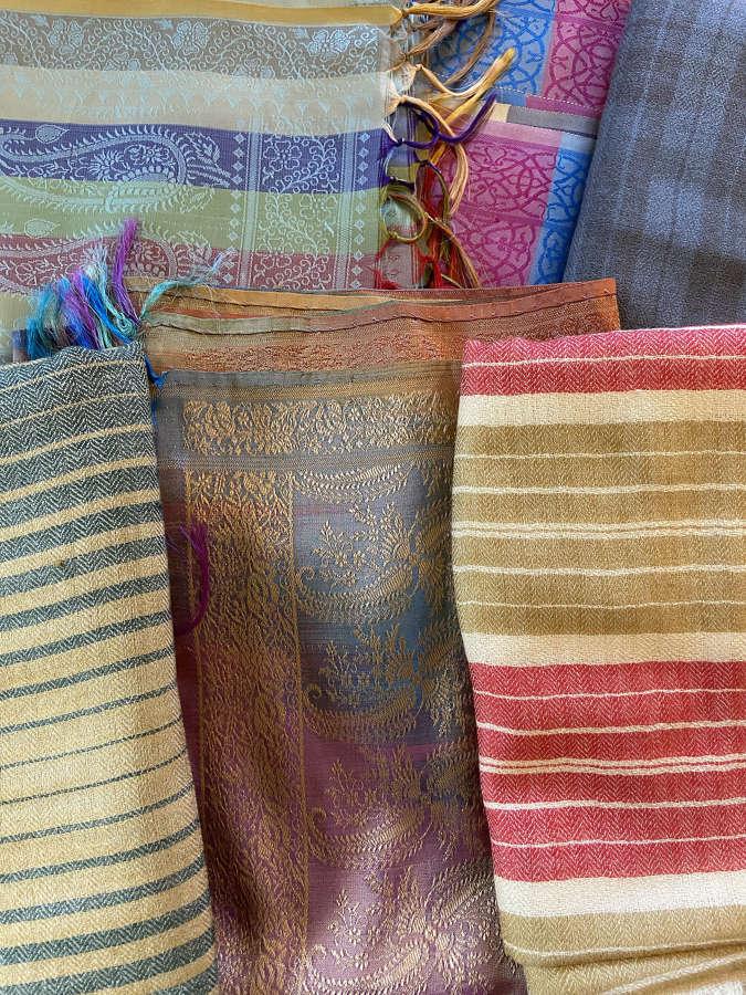 Kashmiri Wool and Silk Scarves