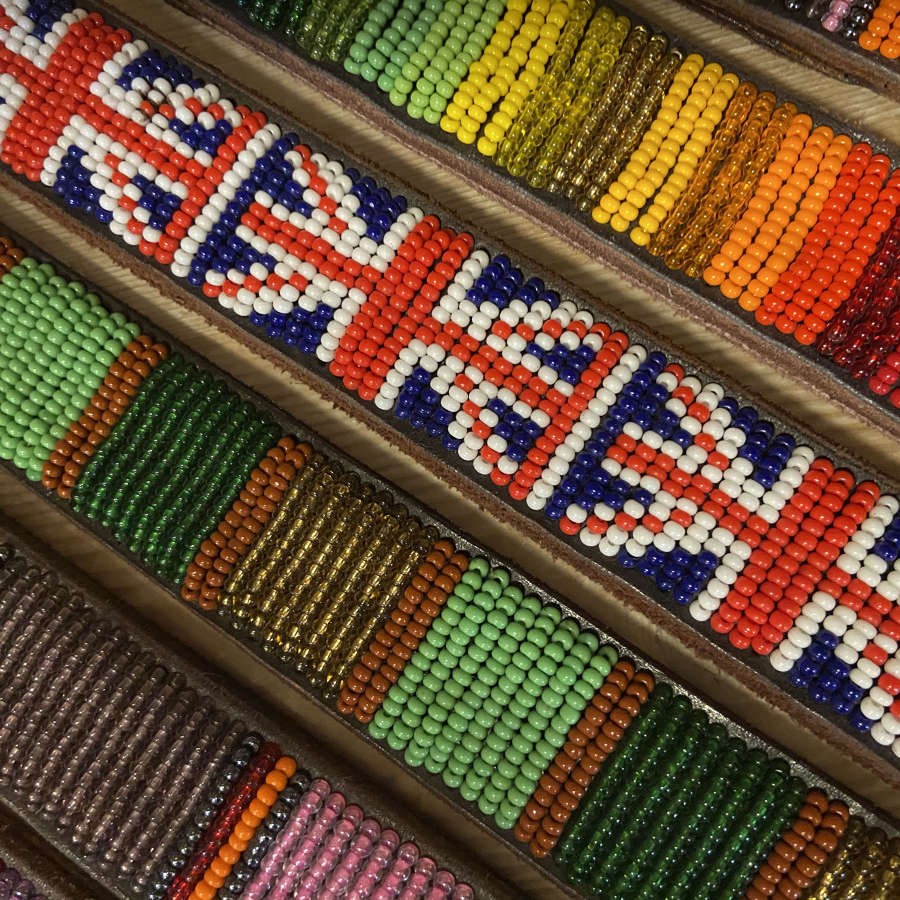 Beaded Kenyan Dog Collars and Leads