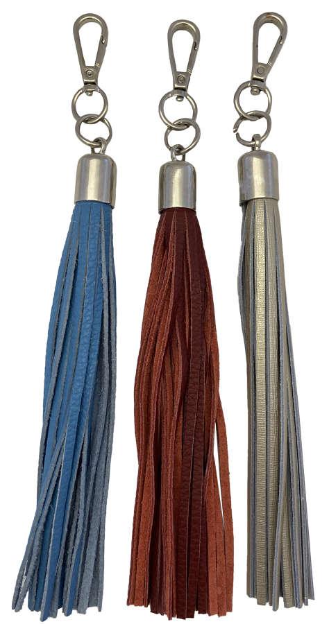 Leather Tassel Keyfobs
