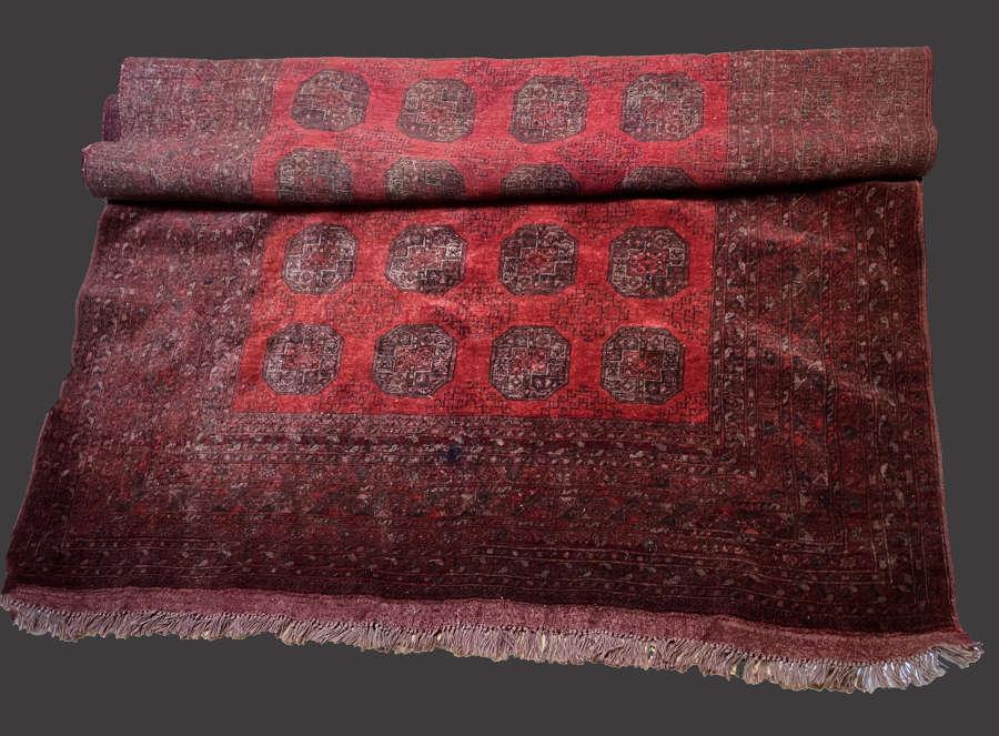 Antique Afghan Elephant Foot pattern carpet