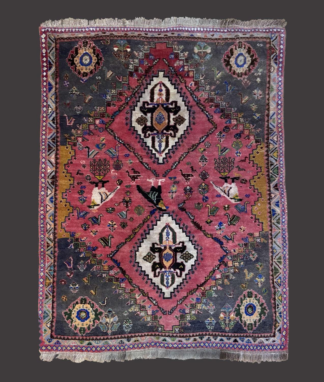 Small Iranian Pink ground rug
