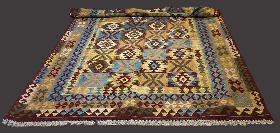 Large unusual colour wool kilim